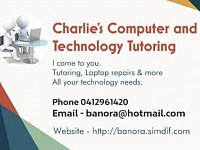 Charlie's computer and technology tutoring